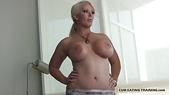 I will train you to eat your own cum CEI
