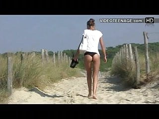 Candid bikini video clips Teen candid bikini ass at beach