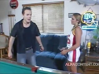 Sexy cheerleader of america Sexy cheerleader slut fucked on billiard table