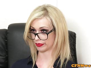 Spex facial - Spex cfnm femdom facialized after cocksucking