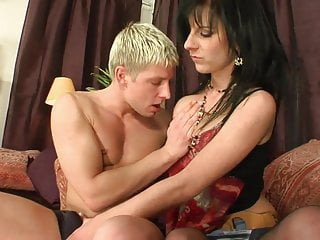 Guy sucks is own dick - Brunette rides guys tool while he sucks another dudes dick