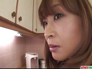 Hikaru ass pussy japanese - Hikaru wakabayashi uses her big tits to play with cock