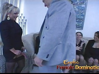 Wemon using strap ons xxx Six smoking hot ladies use strap-ons to bang a horny stud