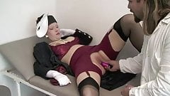 Full Dressed Retro Lingerie Lady By Her Doctor