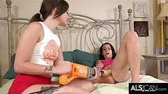 Lesbian Teens Get Each Other Off with High Powered Toys