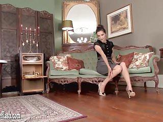 Free leopard girl hentai tape - Hot brunette masturbates in leopard heels and vintage nylons
