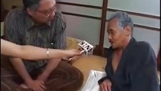 Japanese newsreader  news show