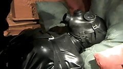 lena latex slave baged and fucked bdsm