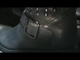 Boot lovers femdom youtube Driving in new grey boots from youtube
