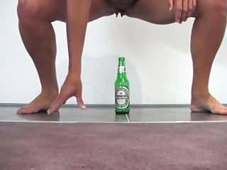 Girl fuck beer bottle Fucking a beer bottle