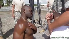 Youngest black  gay twink Cadet Logan challenged