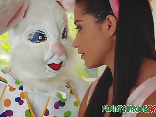 Easter teens Easter bunny fucks horny teen