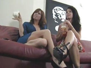 Making his nuts cum Stepmom and friend make him eat his own cum