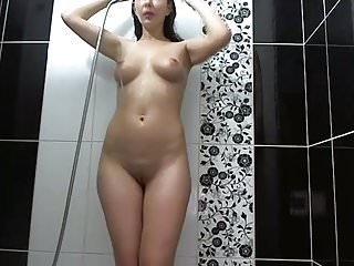 Guys with long hair having sex Cute long haired brunette shower and having fun, long hair