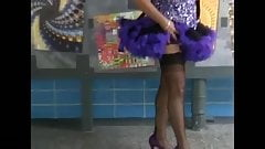mature flashing, high heels, ff nylons and upskirt