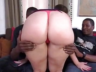 Brunette with thight ass - Brunette with curvy ass dped and breaded by two bulls