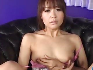 Pussy in dick Maika plays with pussy in solo before sucking a big dick