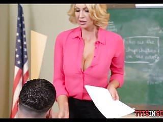 A bad boy amateur Big tit teacher fucks with the bad boy