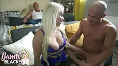 midget blonde takes on huge spunker