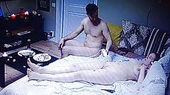 Man gives Woman massage