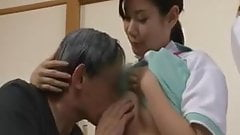 breasfeeding old guy