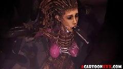 Starcraft futanari and Overwatch sex collection