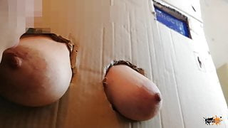 The boob box from the store. Nipple sucking