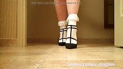 transvestite frill socks high heels and stockingspart 3