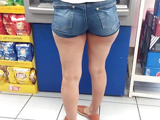 Sexy mexicans big ass Candid booty with some sexy thick legs