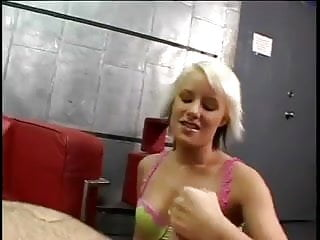 Big cock masturbating with two hands - Angel uses two hands on the cock