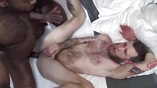 he gives is ass to two hung black copses