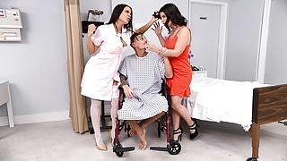 Two Latinas Fuck A Patient In Hospital - full at ebrazz.tv