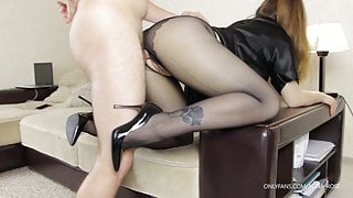 Stepsister in tights seduced me, had to fuck her well