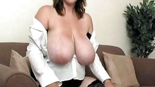 Huge Natural Hangers On This Lovely Chick