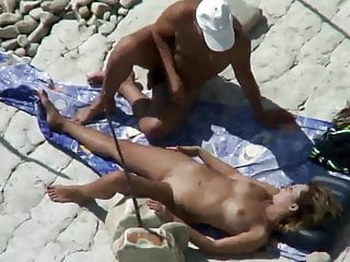 Old ladies do lesbian Sex on a beach. all ladies do it