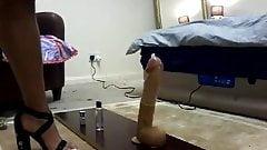 Chloe transvestite foot job part 1