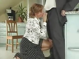 Lads army nude - Busty mature milf in stockings sucks hubby fucks lad