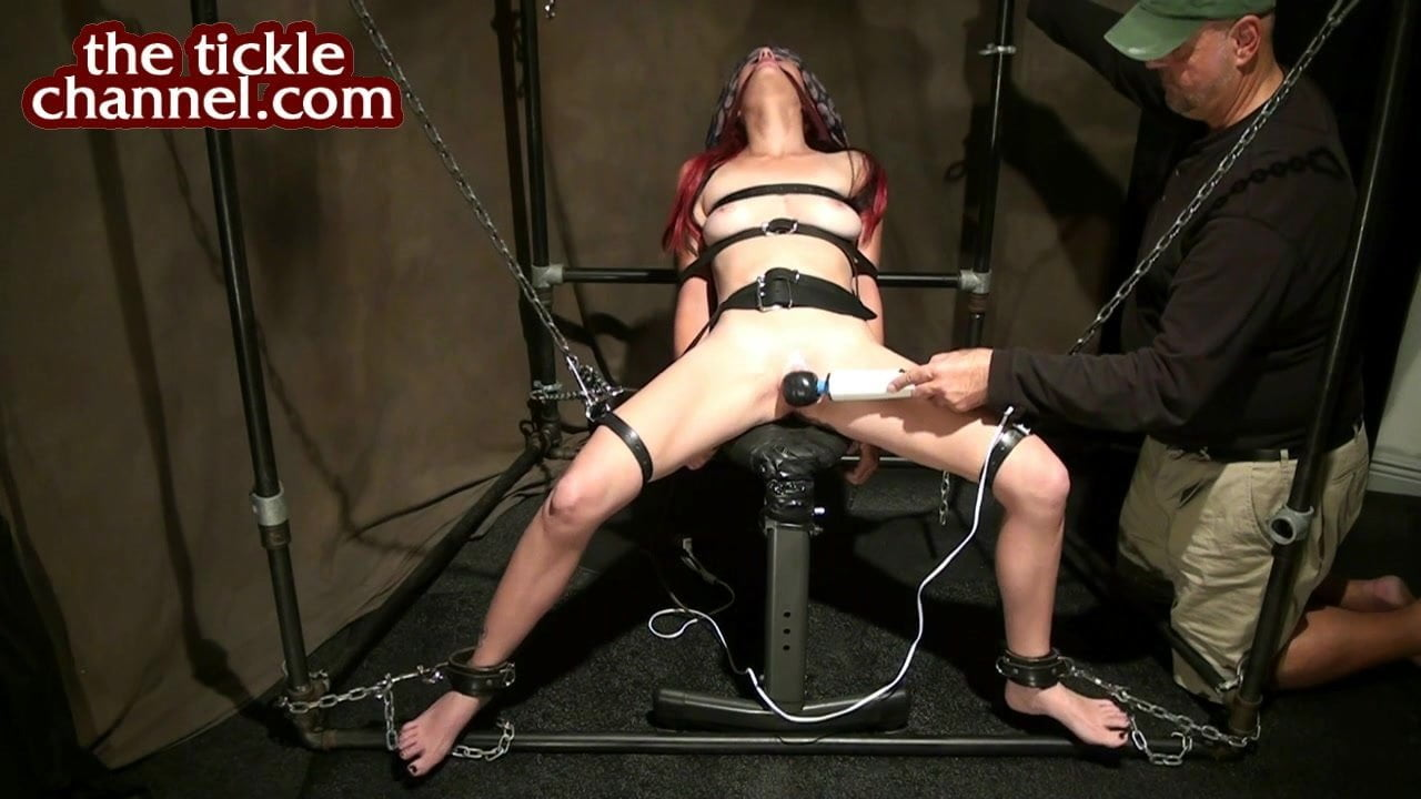 Handcuffed horny submissive begs to cum