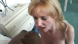 Facial for a milf loves to see a man jerk off