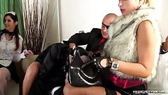 Pissing orgy in fur