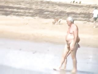 Couples at the nude beach - Old couples at nude beach