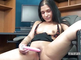 Indian exotic pussy - Petite milf naomi shah fucks her exotic pussy with a toy
