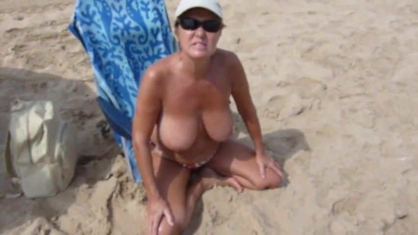 Spanish Woman With Big Tits On Nudist Beach