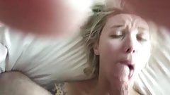 good morning blowjob & cum swallow