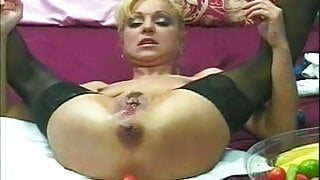 Mila - Fruit Insertion, Prolapse & Squirting in One (by SNC)
