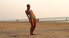 The Bald Yogi Girl On The Beach