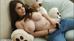 Sexy Big Natural Tits Teen Teasing Dicks