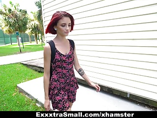 Giantdicks fucking Exxxtrasmall - kitty girl pounded and fucked