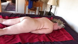 Face Fucking and Fingering Mature Gray Haired GILF