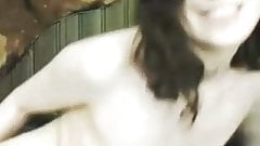 Busty brunette masturbating on cam